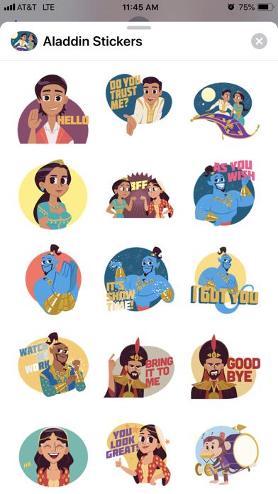 Disney Stickers: Aladdin screenshot 1