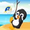 Baby Penguin Fishing