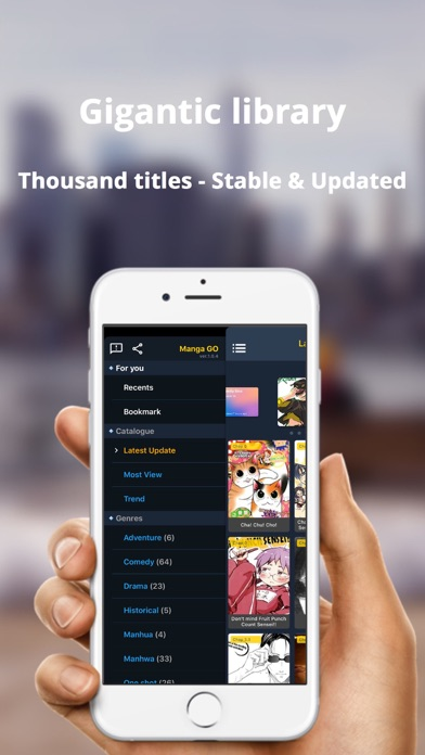 Screenshot for Manga GO - Manga reader online in United States App Store