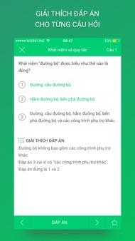 Ôn thi GPLX - 450 câu hỏi iphone images