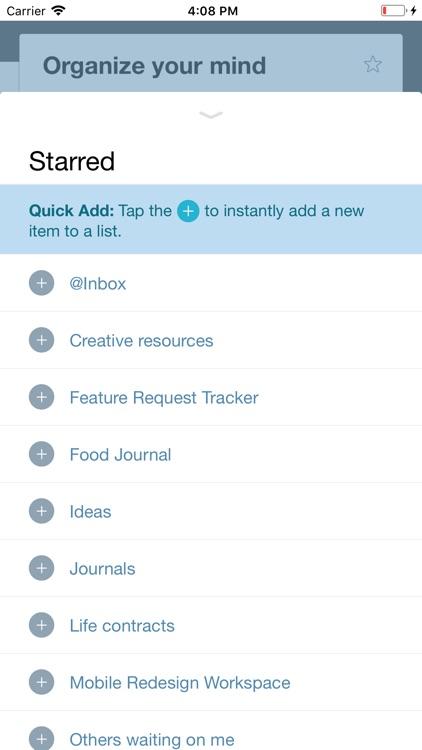 WorkFlowy: Note, List, Outline screenshot-4