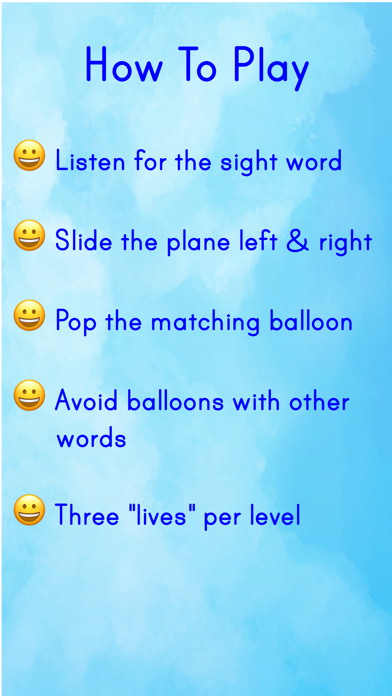 点击获取Sight Words Airplane