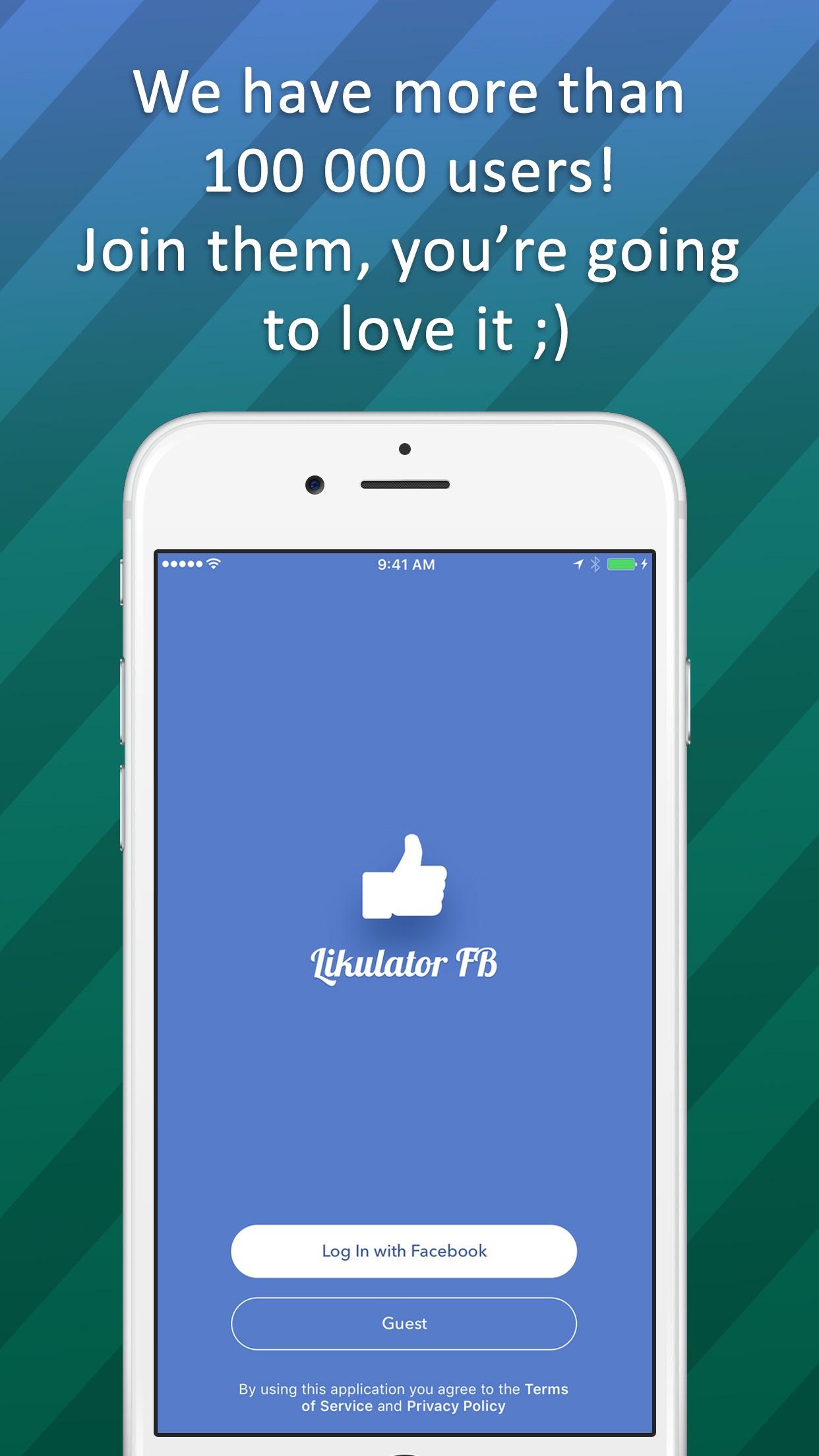 Likulator for Facebook Screenshot