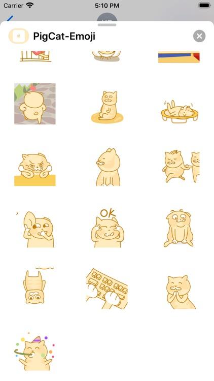 PigCat-Emoji screenshot-3