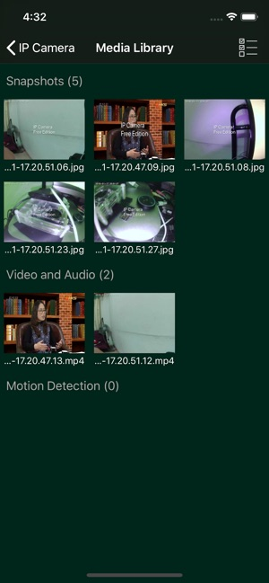 IP Camera WITH Motion Detect
