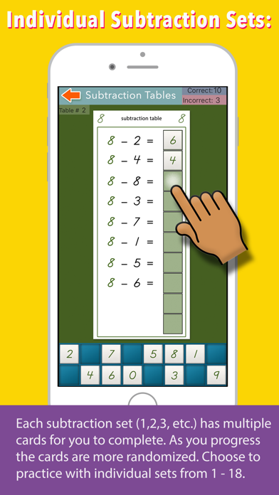 Montessori Subtraction Tables screenshot 3