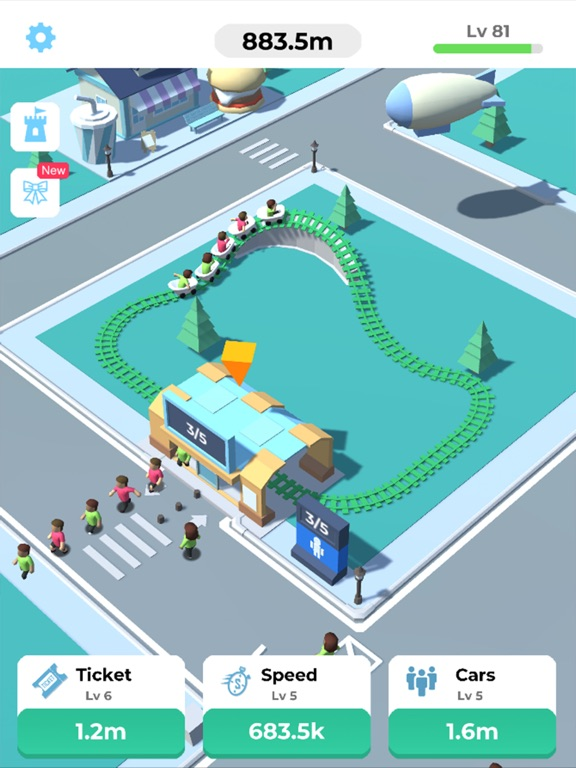 Idle Roller Coaster screenshot 7