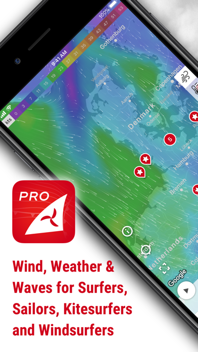 Screenshot for Windfinder Pro in Czech Republic App Store