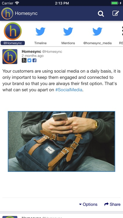 Homesync - Social Media Tools screenshot-3