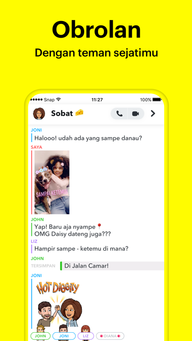 Screenshot for Snapchat in Indonesia App Store