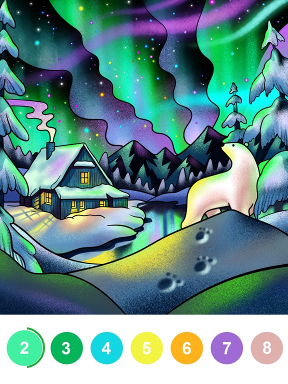 数字で塗り絵 - すうじでぬりえパズルゲームのおすすめ画像3