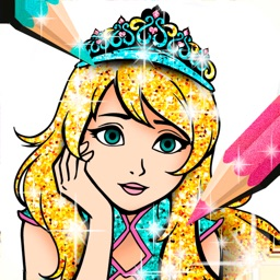 Princess Coloring Book Sparkle