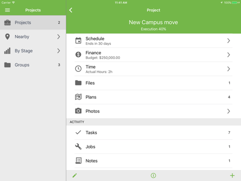 Screenshot of Upvise