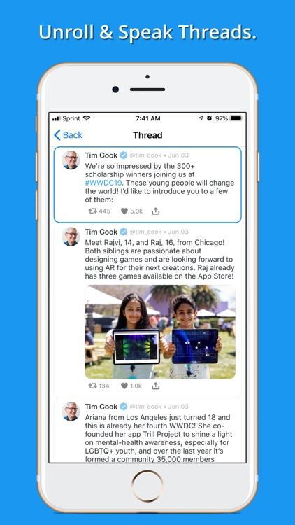 Social Speaker for Twitter by ObeeMobee LLC