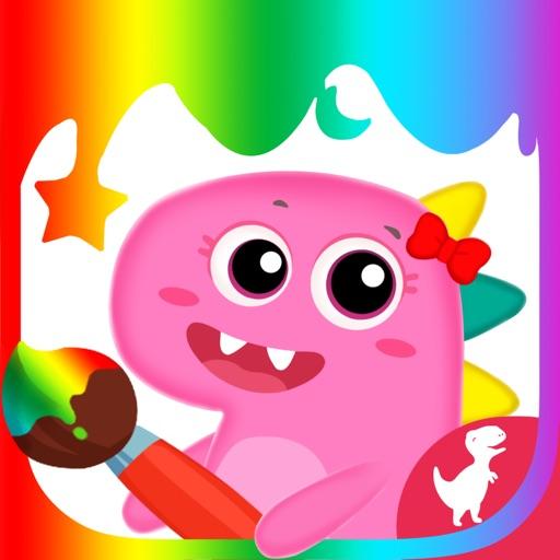 Dino Shop Design & Color Game