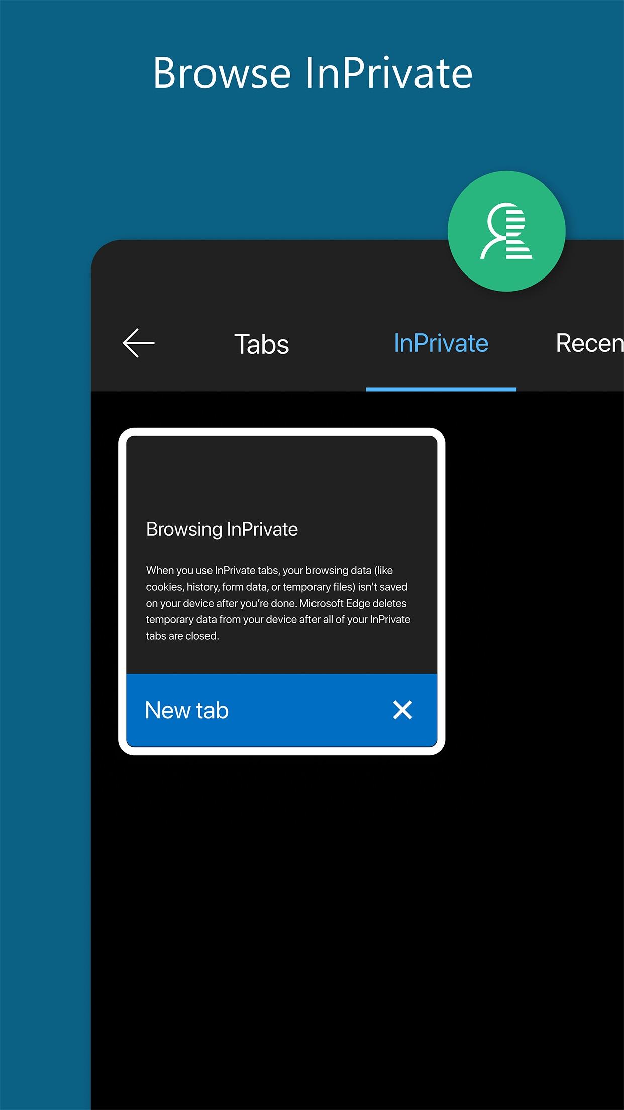 Screenshot do app Microsoft Edge