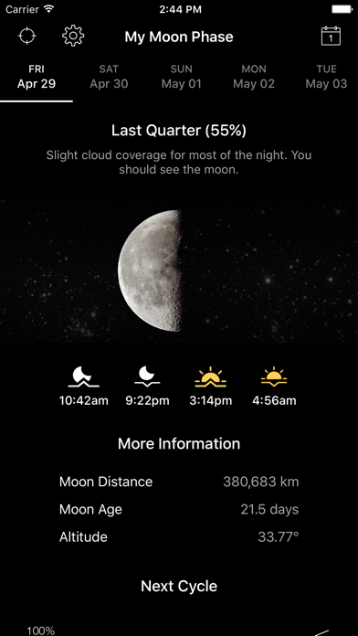 Screenshot for My Moon Phase Pro - Alerts in Portugal App Store