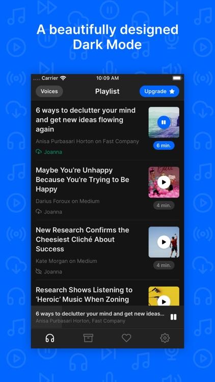 Playpost: Listen to articles screenshot-6