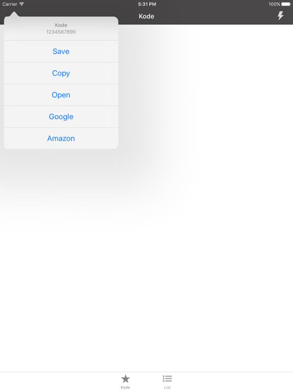 Kode QR Screenshots