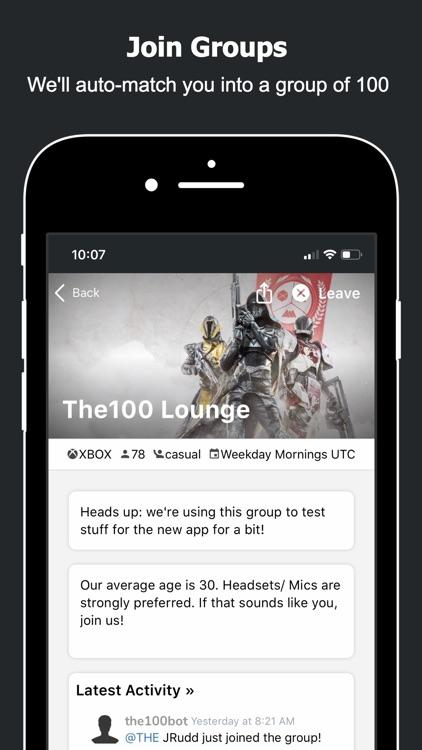 The100.io Destiny 2 Groups