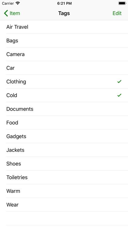 Pack - Simple Packing List screenshot-4