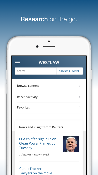 Westlaw review screenshots