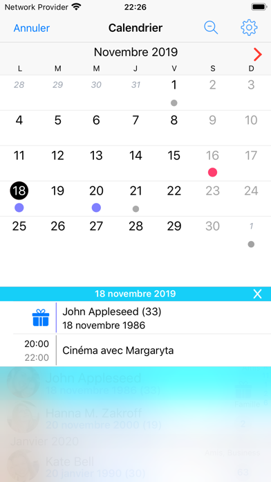 Screenshot #2 pour BirthdaysPro X