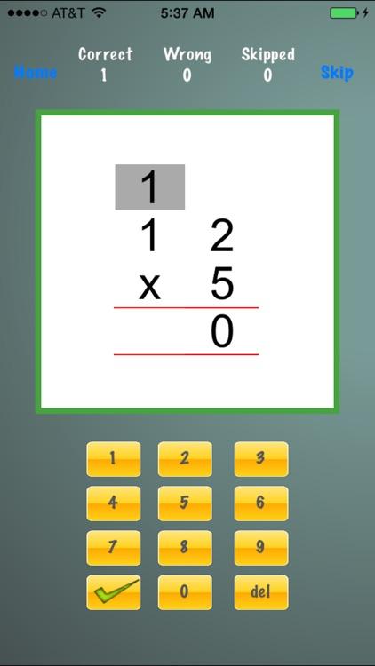 Drill Long Multiplication screenshot-3