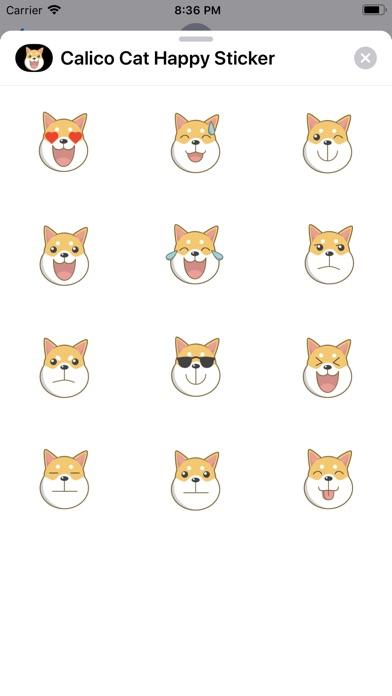 Calico Cat Happy Sticker screenshot #1