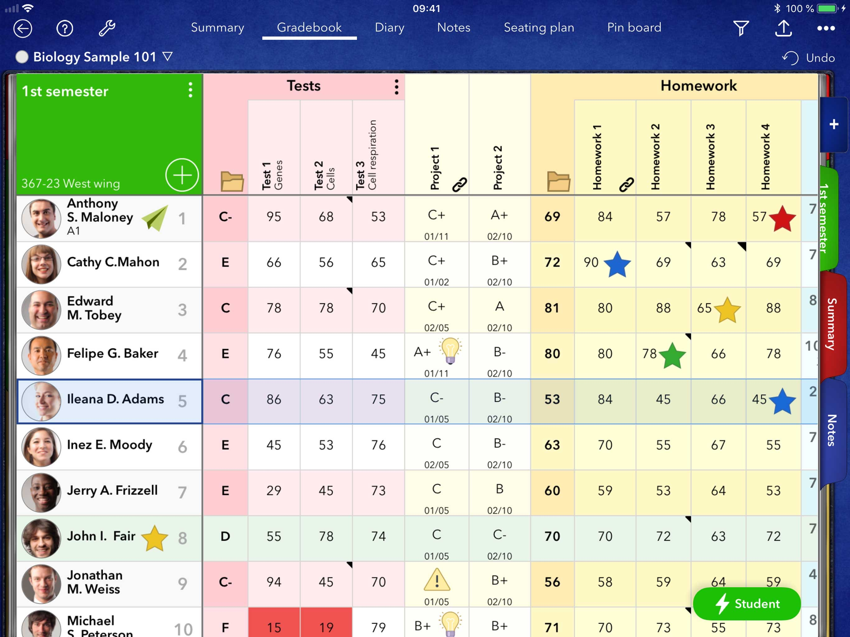 iDoceo - Teacher gradebook Screenshot