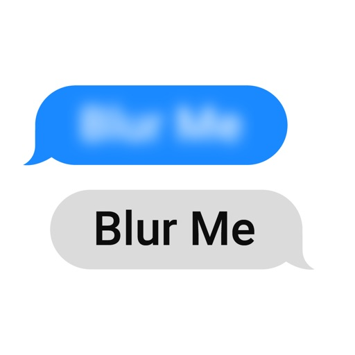 Blur Out any Message Stickers