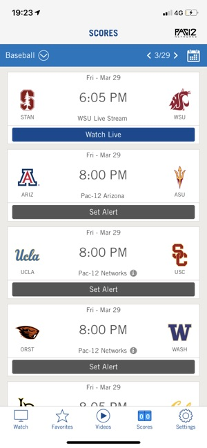 Pac-12 Now on the App Store