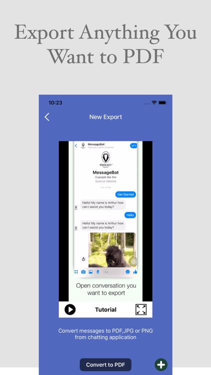 Message SMS Export to PDF,XLS