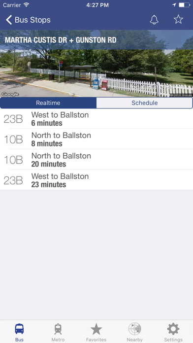 Screenshot for DC Metro and Bus in United States App Store
