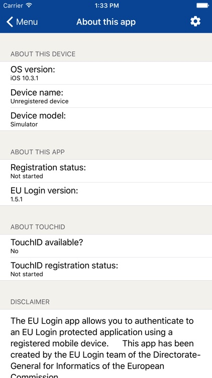 EU Login by European Union Apps