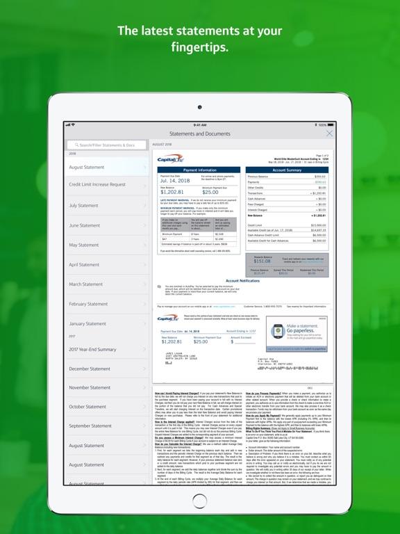 iPad Image of Capital One Mobile