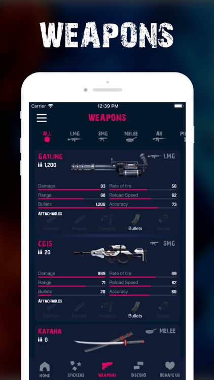Stickers & Weapons - Free Fire