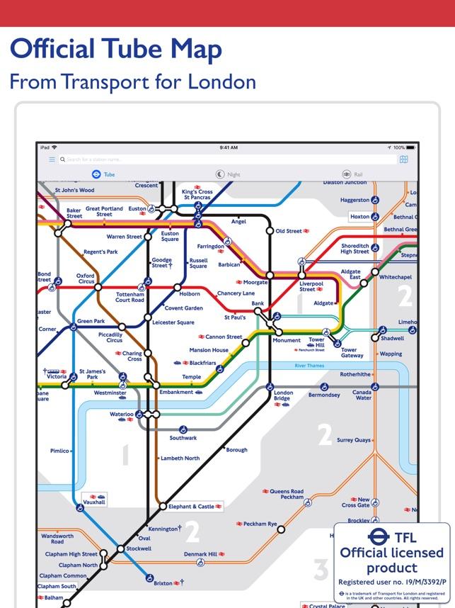 Train Map London Underground.Tube Map London Underground On The App Store