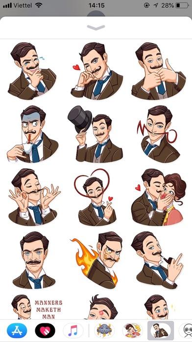 Gentleman Style Funny Stickers screenshot 1