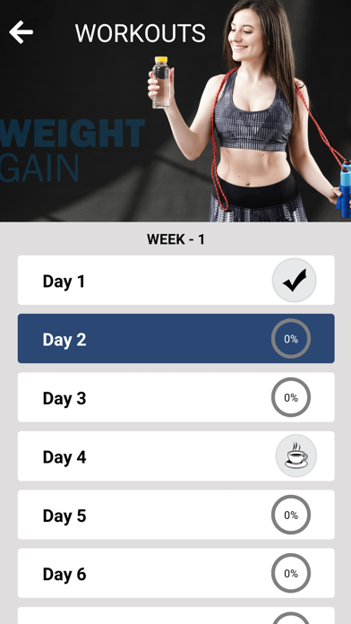 Weight Gain Workouts Food Diet screenshot two
