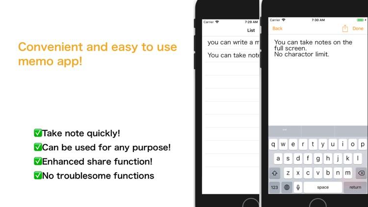 Notepad - handy quickly memo