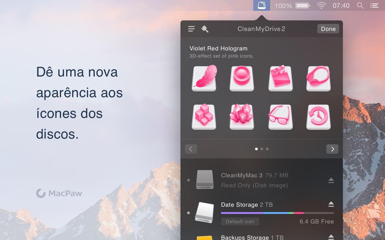 Screenshot do app CleanMyDrive 2