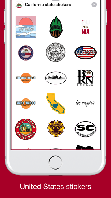 California emojis USA stickers screenshot 3