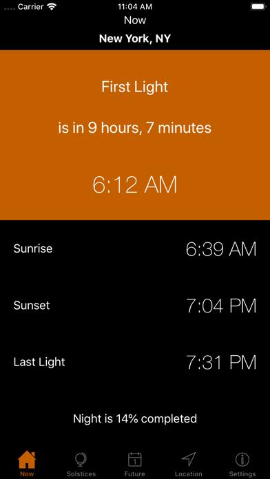 Sunrise Sunset Times Screenshot