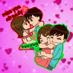 Cute Love Couple chat Stickers