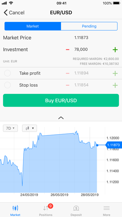 BDSwiss Mobile Trading App screenshot four