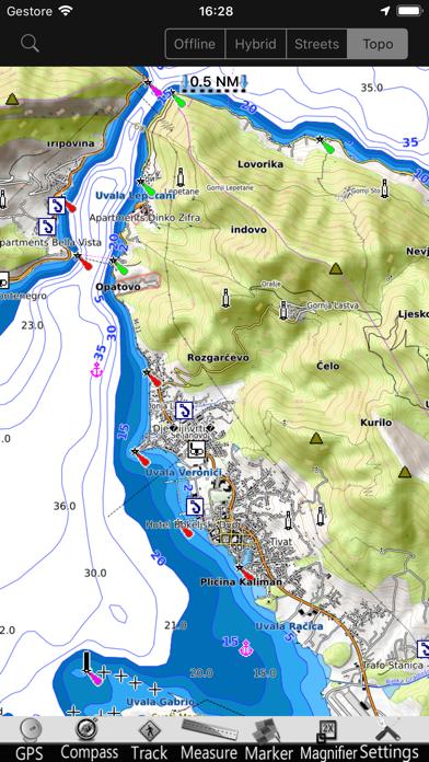 Croacia GPS Cartas Náutica ProCaptura de pantalla de4