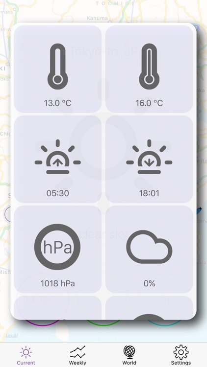 FLAT Weather Clock for iPhone