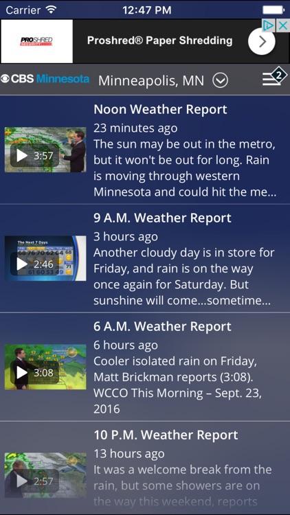 CBS Minnesota Weather screenshot-4