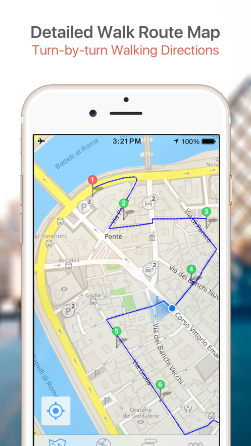 Bangkok Map & Walks (F) App 截图